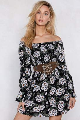 Nasty Gal In My Darkest Flower Off-the-Shoulder Dress e68c7fc56