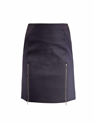 Richard Nicoll Front-zip mini skirt