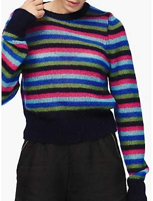 87061ed10f7 Womens Stripe Mohair Jumper - ShopStyle UK