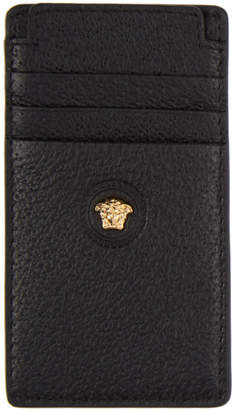 Versace Black Leather Card Holder