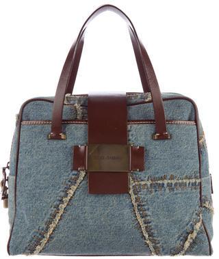 Dolce & GabbanaDolce & Gabbana Leather-Trimmed Denim Bag