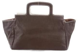 Miu Miu Leather Handle Bag Brown Leather Handle Bag