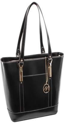 McKlein McKleinUSA ARYA, Ladies' Tote with Tablet Pocket, Top Grain Cowhide Leather, Black (97715)