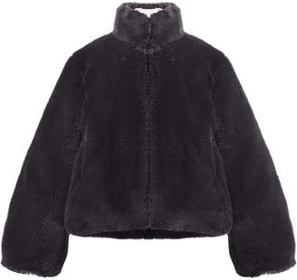Imoga Faux-Fur Jacket w/ Sequin Heart Patch, Size 2-6