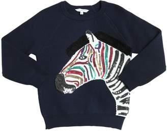 Little Marc Jacobs Zebra Cashmere & Cotton Sweater