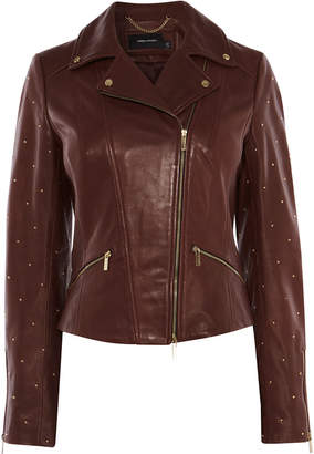 Karen Millen Studded Leather Jacket