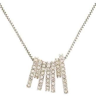 Swarovski Crystal Charm Necklace Silver Crystal Charm Necklace