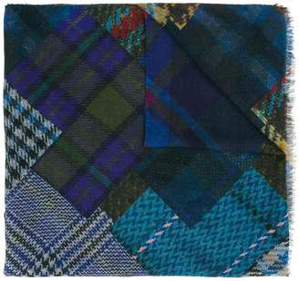 Etro patchwork check scarf