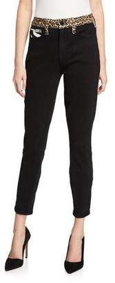 Alice + Olivia JEANS Good High-Rise Ankle Skinny Jeans with Animal Prints