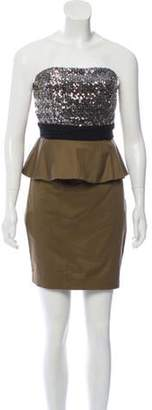 Alice + Olivia Strapless Mini Dress Olive Strapless Mini Dress