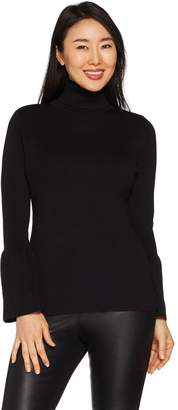 Joan Rivers Classics Collection Joan Rivers Turtleneck Sweater with Tulip Sleeves
