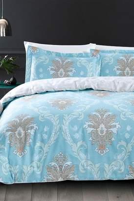 California Design Den by NMK Tuscan Damask Comforter 3-Piece Set - King - Blue