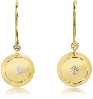 Aurelie Bidermann Telemaque 18K Gold and Diamond Bell Earrings