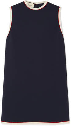 Gucci Grosgrain-trimmed Cady Tunic - Navy