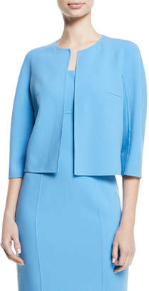 Michael Kors Open-Front Stretch-Wool Crepe Cardigan Jacket