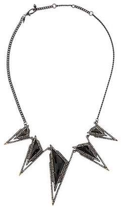 Alexis Bittar Crystal Stepped Pyramid Collar Necklace gold Crystal Stepped Pyramid Collar Necklace