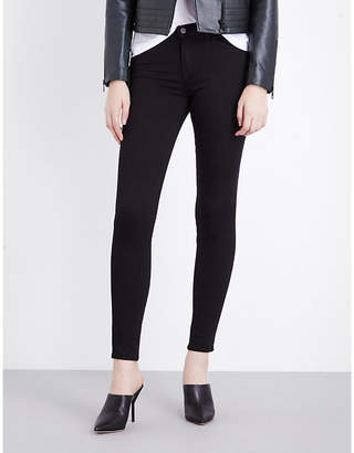 J Brand Ladies Black Luxurious Skinny Mid-Rise Jeans