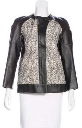Derek Lam Leather-Trimmed Calf Hair Jacket w/ Tags