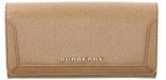 Burberry Patent Leather Fold-Over Wallet