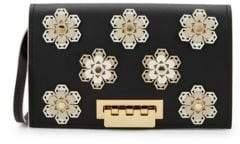 Zac Posen Earthette Embellished Leather Crossbody Bag