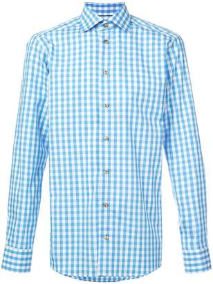 Eton gingham button shirt