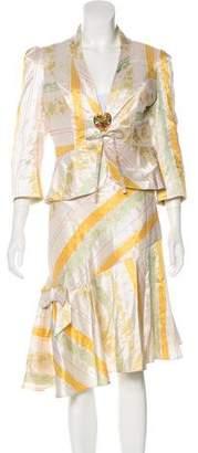 Christian Lacroix Silk Jacquard Skirt Suit