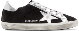 Golden Goose Black Suede Superstar Sneakers