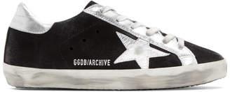 Golden Goose Black Suede Superstar Sneakers