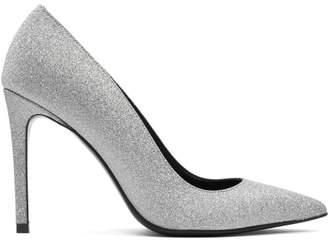 Balmain Silver Daphne Glitter Pumps