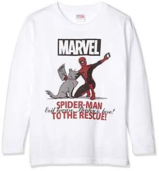 Marvel [マーベル] 天竺プリントTシャツ(長袖)(8421-5125) OTH-776 ボーイズ ホワイト 日本 140 (日本サイズ140 相当)