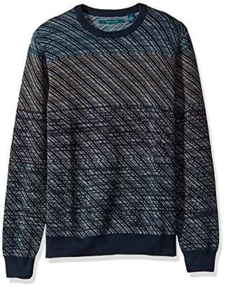 Perry Ellis Men's Ombre Jacquard Crew Sweater