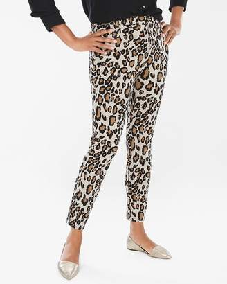 So Slimming Diamond Fit Refined Ponte Animal Ankle Pants