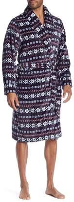 14th & Union Patterned Plush Robe