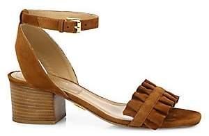 Michael Kors Women's Monroe Suede Ankle-Strap Sandals