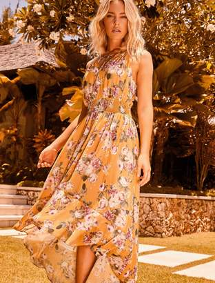 Forever New Lisa High-Low Dress - Trailing Roses - 12