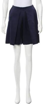 Celine Pleated High-Rise Shorts