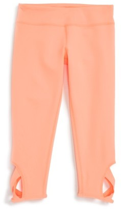 Girl's Zella Girl Keyhole Crop Leggings $39 thestylecure.com