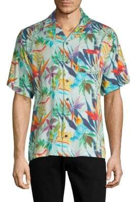 Standard Issue NYC Floral-Print Button-Down Camp Shirt