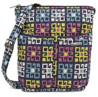 Ashton & Willow Indigo Blue Bohemian Handbags Zealand Hipster Cotton Adjustable Strap Pewter Hardware Geometric Crossbody