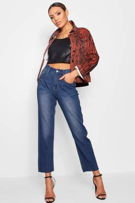 boohoo High Rise Mom Jeans
