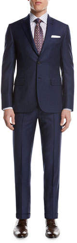 Brioni Brioni Windowpane Check Wool Two-Piece Suit, Blue
