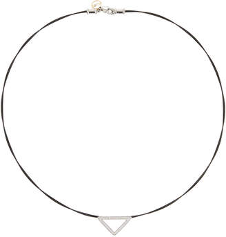 Alor Triangular Diamond Pendant Necklace, Black