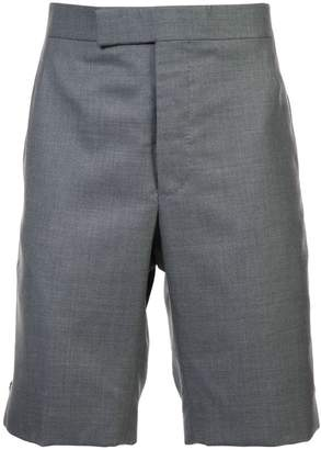 Thom Browne Classic Backstrap Short In Medium Grey Super 120's Twill