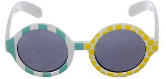 Le Specs Craig & Karl x Tinted Round Sunglasses