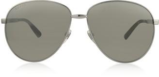 Gucci Aviator Metal Sunglasses w/Adjustable Nose Pads
