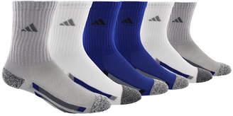 adidas 6-Pk. Crew Socks, Little & Big Boys