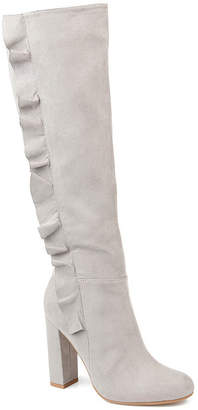 Journee Collection Womens Vivian-Xwc Dress Boots Block Heel Zip