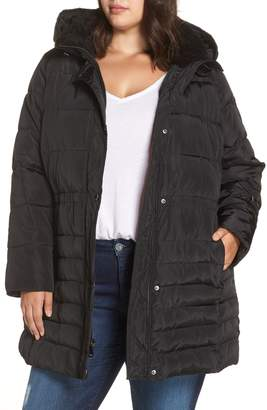 Rachel Roy Matte Finish Puffer Coat