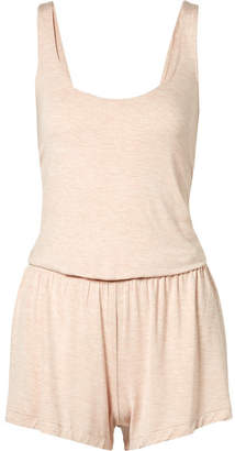 Skin - Leucadia Open-back Stretch-jersey Playsuit - Blush