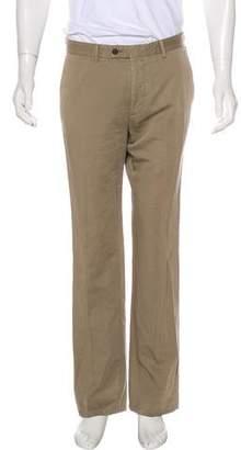 John Varvatos Woven Straight-Leg Pants